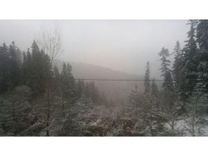 Ilgaz'a kar yağdı