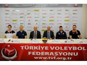Voleybol 1'inci Lig Final Etabı öncesi basın toplantısı düzenlendi