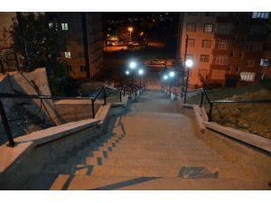 Alaplı'nın Cadde, Sokak Ve Merdivenler Aydınlanıyor