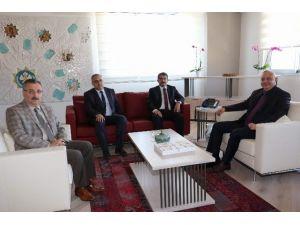 Başkan Ergün, Başkan Çelik'i Konuk Etti