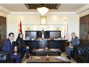 Devrek Belediye Başkanı Rektör Özer'i Ziyaret Etti