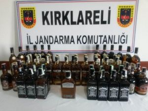 55 Şişe Kaçak Viski Ele Geçirildi