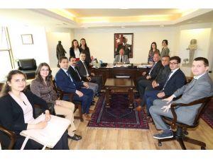 Stajyer Öğretmenlerden Başkan Bakıcı'ya Ziyaret