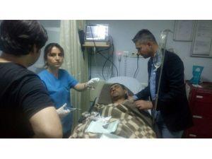 Yaralı İşçiyi Sırtlarında Taşıyararak Hastaneye Yetiştirdiler