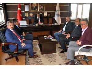 Giresun Orman Bölge Müdürü Pir'den, Suşehri Belediye Başkanı Yüksel'e Ziyaret