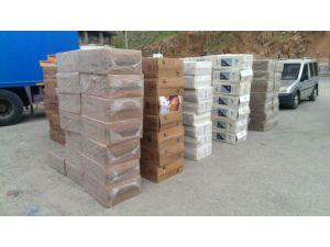 Bitlis'te 266 bin paket kaçak sigara ele geçirildi