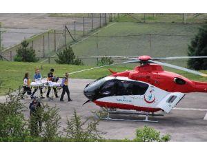 Beyin Kanaması Geçirdi, Hava Ambulansı İle Ankara'ya Sevk Edildi