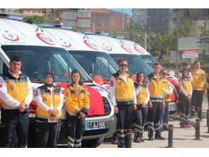 Sağlık Bakanlığı Tarafından Bilecik'e Tahsis Edilen 7 Ambulansın Devri Teslim Töreni