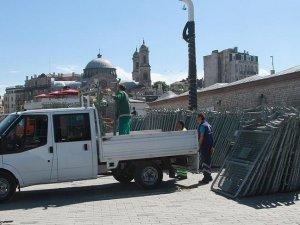 Taksim Meydanı'nda 1 Mayıs İşçi Bayramı önlemleri