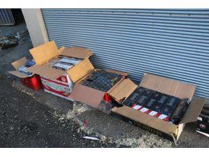 Batman'da bin 570 paket kaçak sigara ele geçirildi