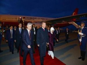 Cumhurbaşkanı Recep Tayyip Erdoğan Azerbaycan'da