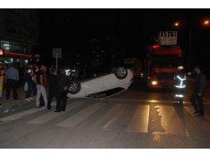 Batman'da otomobil takla attı: 2 yaralı