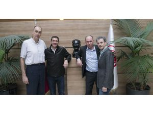Fransa Basketbol Federasyonu Başkanı, TBF'yi ziyaret etti