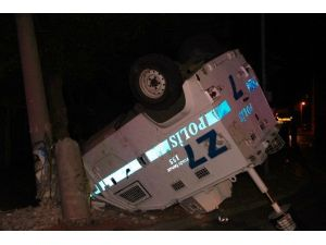 Zırhlı Polis Aracı Takla Attı: 3 Yaralı