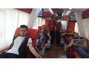 Alaçam MYO'da Kan Bağışı