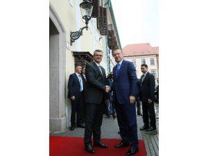 Cumhurbaşkanı Erdoğan, Hırvatistan Başbakanı Oreşkoviç'le Görüştü