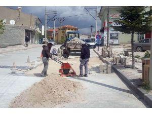 İscehisar'da Parke Taşları Yenileniyor