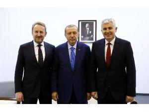 Erdoğan, Bosna Hersek Cumhurbaşkanlığı Konsey Üyelerini Kabul Etti