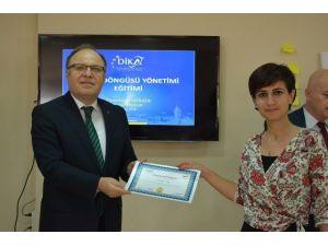 DİKA'da proje eğitimi alan 28 katılımcıya sertifikaları verildi