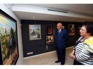 Emekli resim öğretmeninden 'İkinci Bahar' sergisi