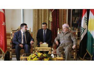 Barzani, Kalkınma Bakanı Yılmaz ile Erbil'de bir araya geldi