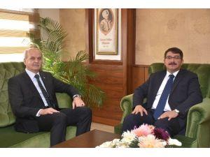 Mcbü Rektörü Çelebi'den Başkan Çelik'e Ziyaret
