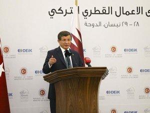 Başbakan Davutoğlu: Katar neye ihtiyaç hissediyorsa Türkiye'de, Türkiye neye ihtiyaç hissediyorsa Katar'da var