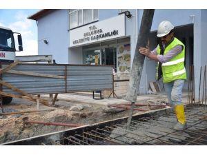 Suluova'da Belediye Binası İnşaatı Sürüyor