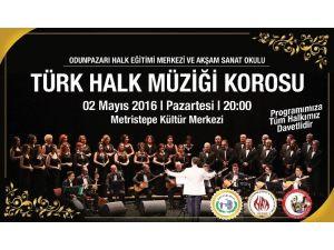 Bozüyük'te Türk Halk Müziği Korosu Konseri