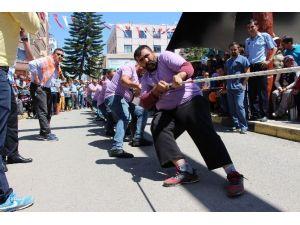 Kumluca'da Yarım Kalan Halat Çekme Yarışması Tekrar Yapıldı