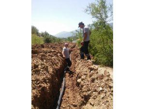 Kumluca'da İçme Suyu Çalışmaları Devam Ediyor