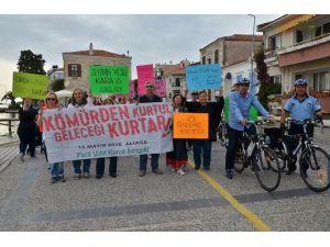 Termik Santrallere Karşı Bisikletli Protesto