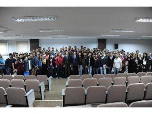 """BEÜ Rektörü Prof. Dr. Mahmut Özer """"Öğrenci Buluşmaları'na"""" Devam Ediyor"""