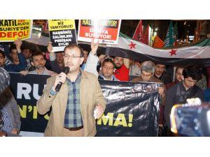 Beyoğlu'nda 'Rusya' protestosu