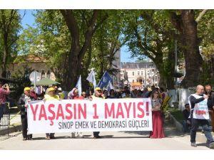 Sinop'ta 1 Mayıs Bayramı Kutlamaları Olaysız Geçti