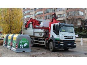 Çayyolu'na Yeni Sistem Çöp Konteynerleri