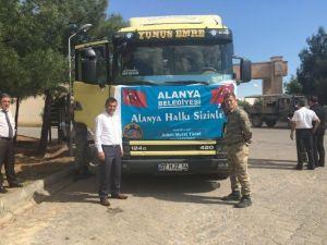 Alanya Belediyesi'nin Yardım Tırı Mardin'deki Emniyet Güçlerine Ulaştı