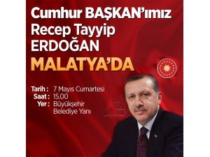 Cumhurbaşkanı Erdoğan Malatya'ya geliyor