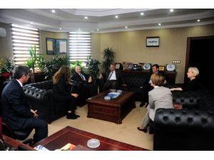 ABD Büyükelçi Yardımcısı Mendel Rektör Battal'ı Ziyaret Etti