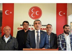MHP Giresun'da İl Ve 12 İlçeden Akşener'e Tam Destek