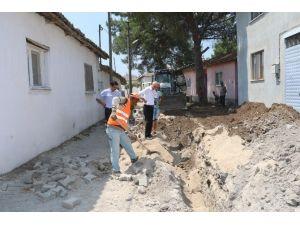 Kanalizasyon çalışmaları yerinde incelendi