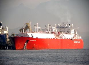 Sestao Knutsen isimli LNG tankeri ABD üretimi ilk sıvılaştırılmış dığalgazı Türkiye'ye getirdi