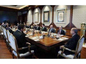 Cumhurbaşkanı Erdoğan TBF Yönetim Kurulunu kabul etti