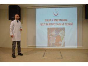 Iğdır'da 'Grup A Streptokok Akut Farenjit Tanı ve Tedavi' konulu seminer