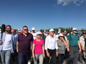 Kılıçdaroğlu, adalet yürüyüşünü 9. gününü tamamladı