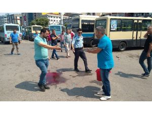 Zonguldak'ta dolmuşçular birbirine girdi; 3 yaralı