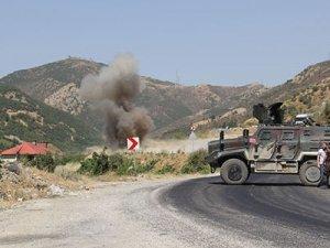 Şemdinli'de yola tuzaklanan patlayıcı imha edildi
