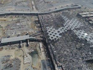 Üçüncü Havalimanı'nda son durum böyle görüntülendi