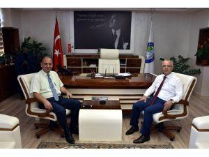 Taşcı'dan, Başkan Kayda'ya veda ziyareti