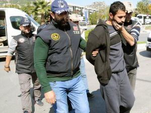 Muğla'da yakalanan 4 PKK'lı terörist adliyede
